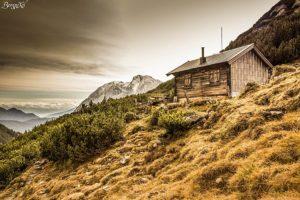 Berghütte im Wettersteingebirge