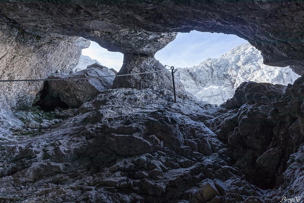 Klettersteig Coburger Hütte : Tajakante klettersteig