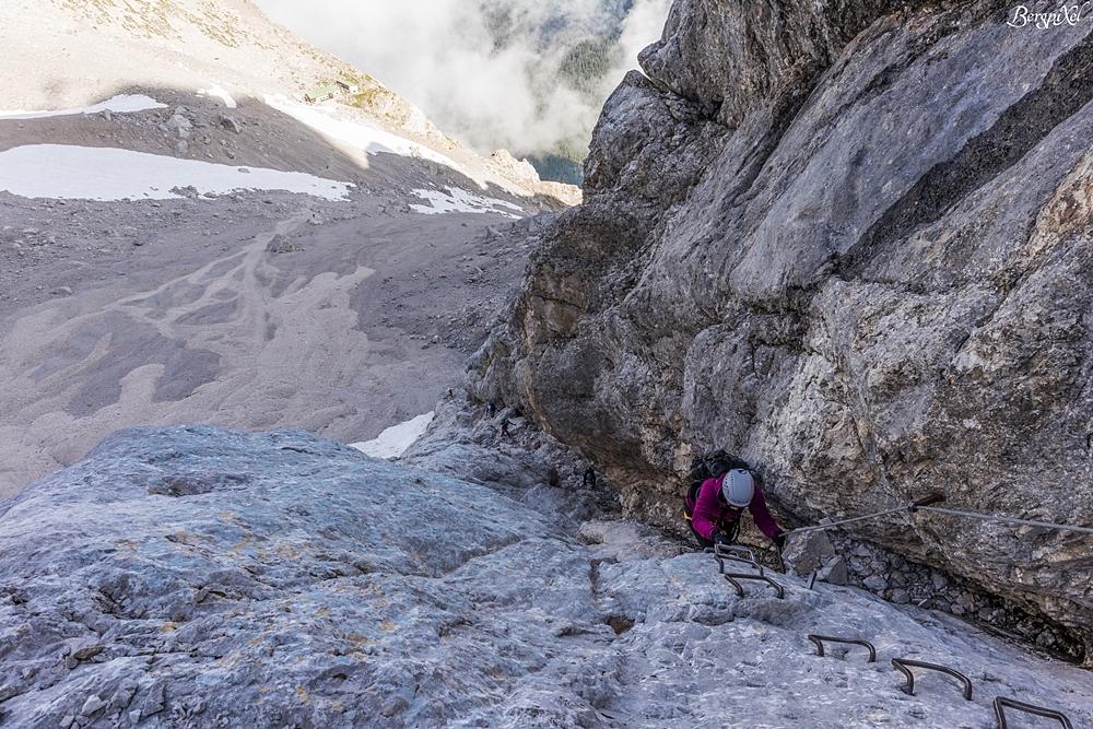 Klettersteig Zugspitze Stopselzieher : Bergpixel bergtour ehrwald stopselzieher klettersteig zugspitze