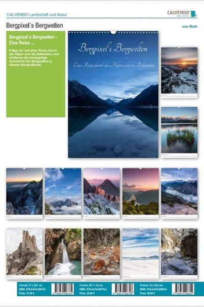 Übersicht: Bergpixel´s Bergwelten - der Kalender