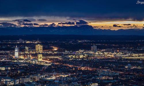 München und die Berge